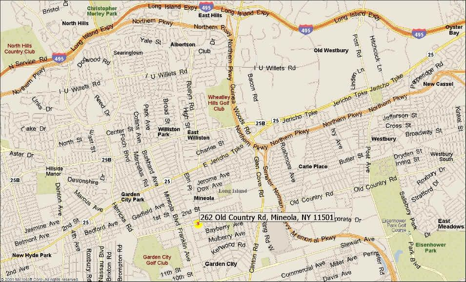 Map to District Attorneys Office